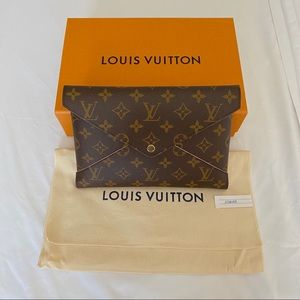 💯2020 LARGE Louis Vuitton Monogram Kirigami Pouch